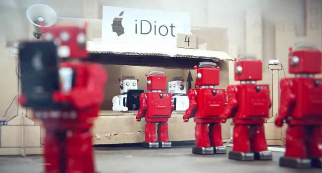 iDiots nowosci, kultura Vimeo, Parodia, Kultura, iPhone 5, iPhone, Filmy, Apple Store, Apple   iDiots 650x350