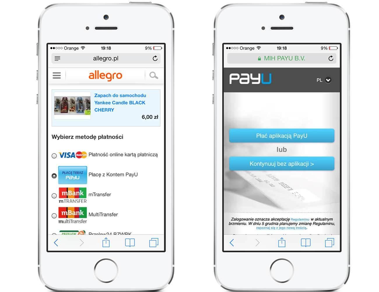 Allegro Payu I Szybkie Platnosci Prosto Z Iphone Onetech