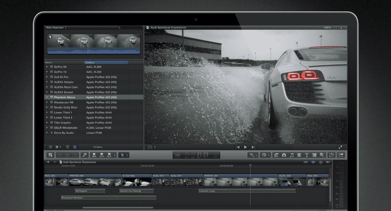 Final Cut Pro X znów za darmo polecane, ciekawostki Final Cut Pro X, Apple, 3 miesiące Final Cut Pro X za darmo  Apple przedłużyło darmowy okres próbny korzystania z aplikacji Final Cut Pro X na komputerach z systemami macOS. Zrzut ekranu 2013 12 19 o 12.41.59