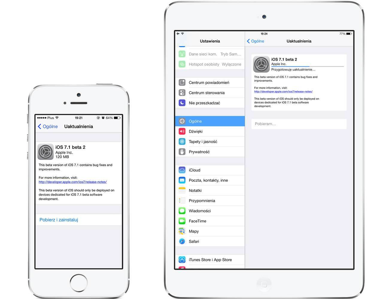 iOS 7.1 beta 2 - lista zmian polecane Update, OTA, Oprogramowanie, iPhone, iPad, iOS7.1b2, iOS7.1 beta2, iOS7.1, iOS 7.1 beta 2, iOS 7 beta2, iOS, Apple, Aktualizacja, 11D5115d  W piątek Apple udostępniło nową wersję systemu iOS 7.1 która oznaczona jest jako build 11D5115d. Poniżej znajdziecie listę zmian jakie zauważyłem w stosunku do poprzedniej bety. Wpis jest aktualizowany na bieżąco także zapraszam do częstego odwiedzania strony. iOS7.1b2