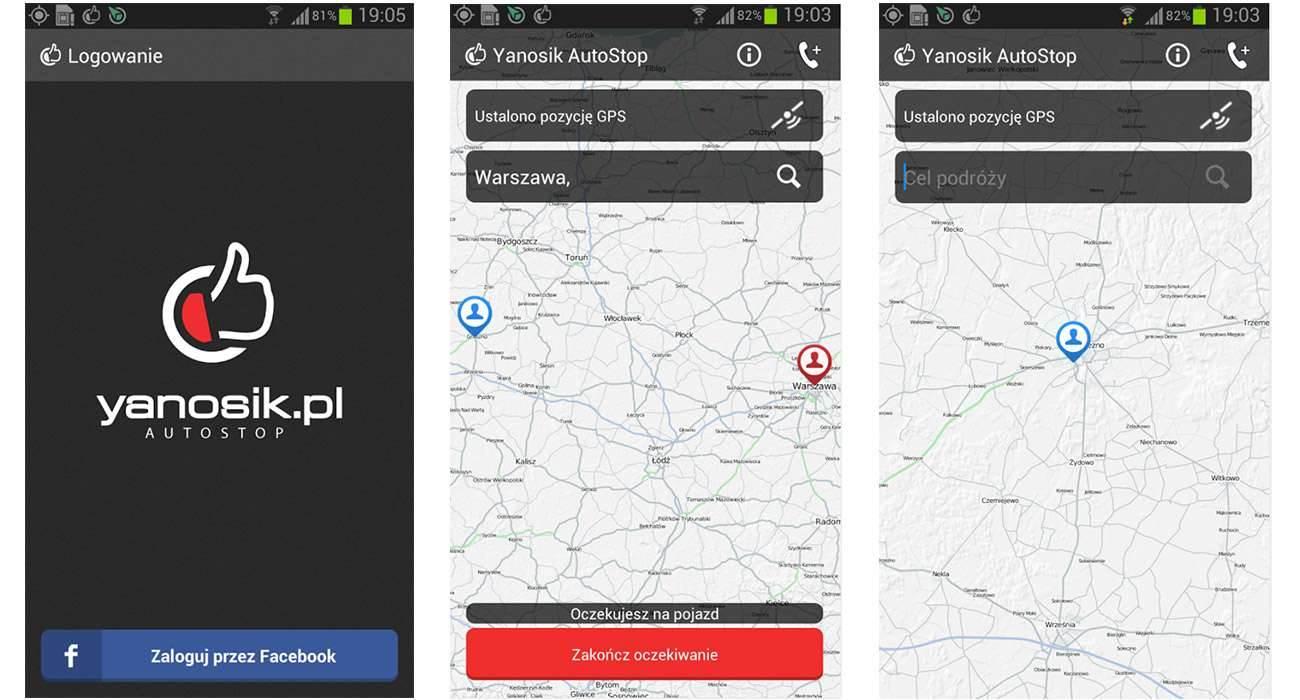 Yanosik.Autostop.onetech.pl