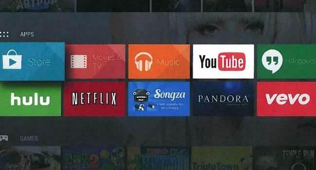 Android TV - pierwsze zdjęcia polecane, ciekawostki pierwsze zdjęcia interfejsu Android TV, Google, Apple TV, Apple, AndroidTV, Android TV, Android  Android TV, to nowe urządzenie od Google. Jest to konkurent dla obecnego już na rynku Apple TV. AndroidTV.onetech.pl 1 650x350