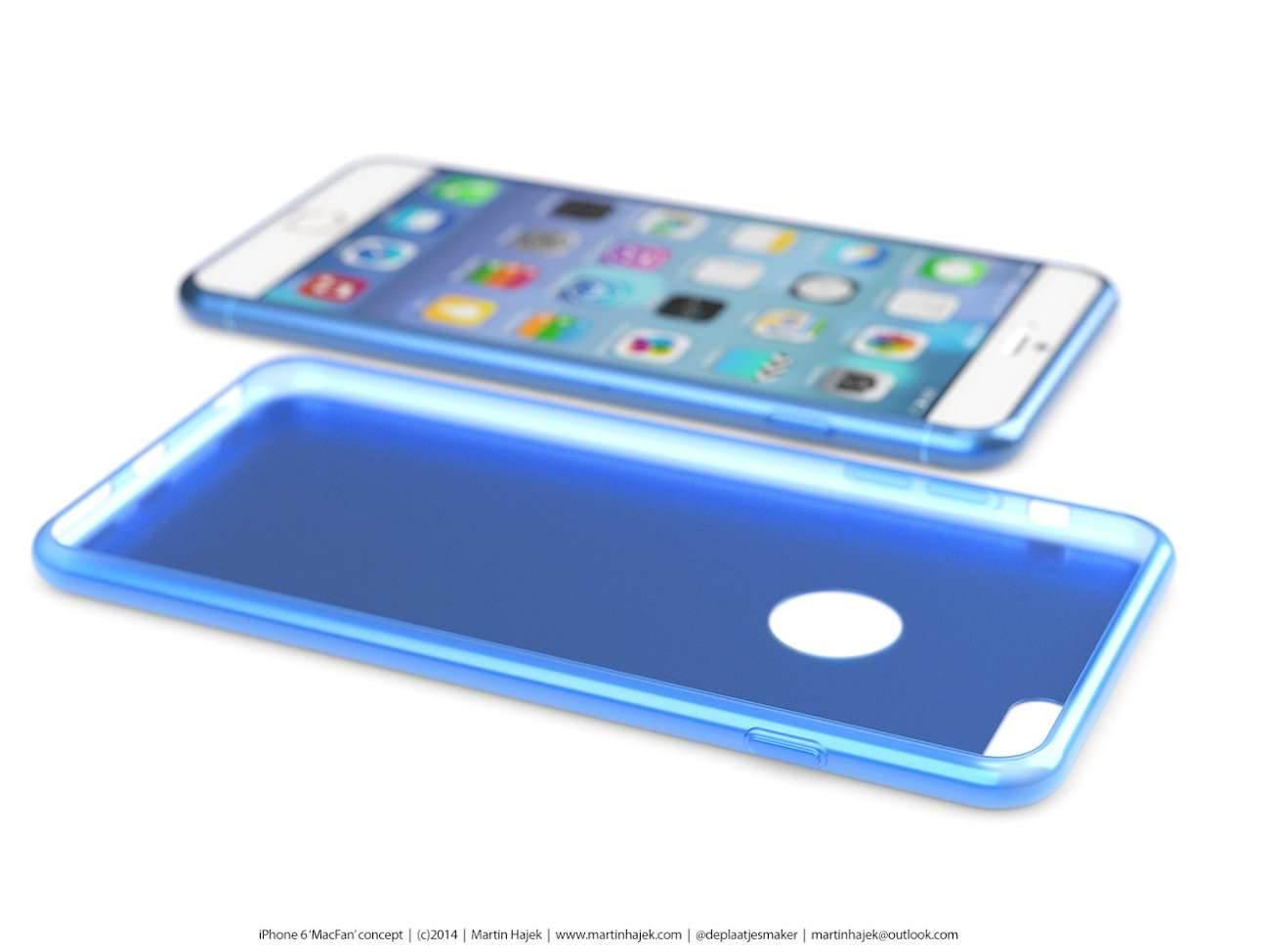 iPhone 6 i bardzo interesujący koncept Martina Hajek'a ciekawostki Zdjęcia iPhone 6, Wizja, Nowy iPhone 6, koncept, jak będzie wyglądał nowy iPhone 6, iPhone6, iPhone Air, iPhone 6, iPhone, Apple  Pamiętacie jak kilka dni temu umieściliśmy na stronie zdjęcia rzekomej obudowy nowego iPhone'a 6? iP631