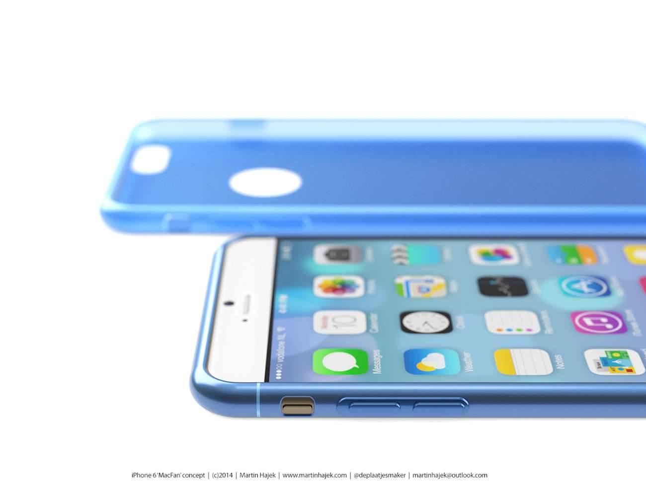 iPhone 6 i bardzo interesujący koncept Martina Hajek'a ciekawostki Zdjęcia iPhone 6, Wizja, Nowy iPhone 6, koncept, jak będzie wyglądał nowy iPhone 6, iPhone6, iPhone Air, iPhone 6, iPhone, Apple  Pamiętacie jak kilka dni temu umieściliśmy na stronie zdjęcia rzekomej obudowy nowego iPhone'a 6? iP66