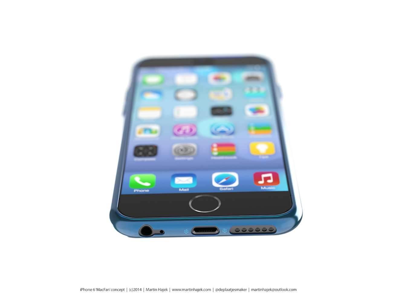 iPhone 6 i bardzo interesujący koncept Martina Hajek'a ciekawostki Zdjęcia iPhone 6, Wizja, Nowy iPhone 6, koncept, jak będzie wyglądał nowy iPhone 6, iPhone6, iPhone Air, iPhone 6, iPhone, Apple  Pamiętacie jak kilka dni temu umieściliśmy na stronie zdjęcia rzekomej obudowy nowego iPhone'a 6? iP70