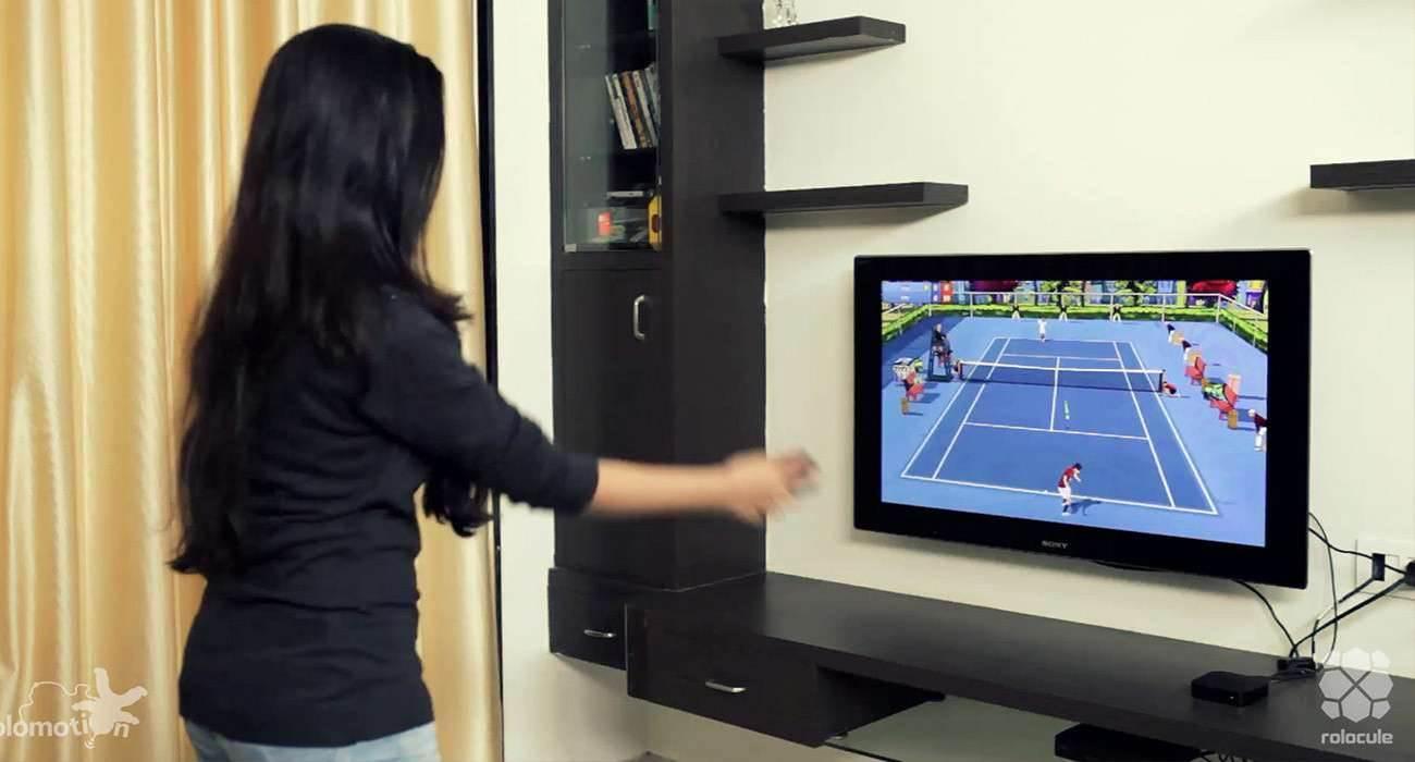 Gra Motion Tennis dostępna w promocyjnej cenie gry-i-aplikacje Wideo, tennis na iPhone, Przecena, Promocja, Motion Tennis, iPhone, iOS, Gra, AppleTV, Apple, App Store  Motion Tennis to bardzo interesująca gra, która przenosi możliwości Wii na ekran naszego telewizora za pomocą Apple TV i zmienia naszego iPhone'a w rakietę tenisową. Tennis 1300x700