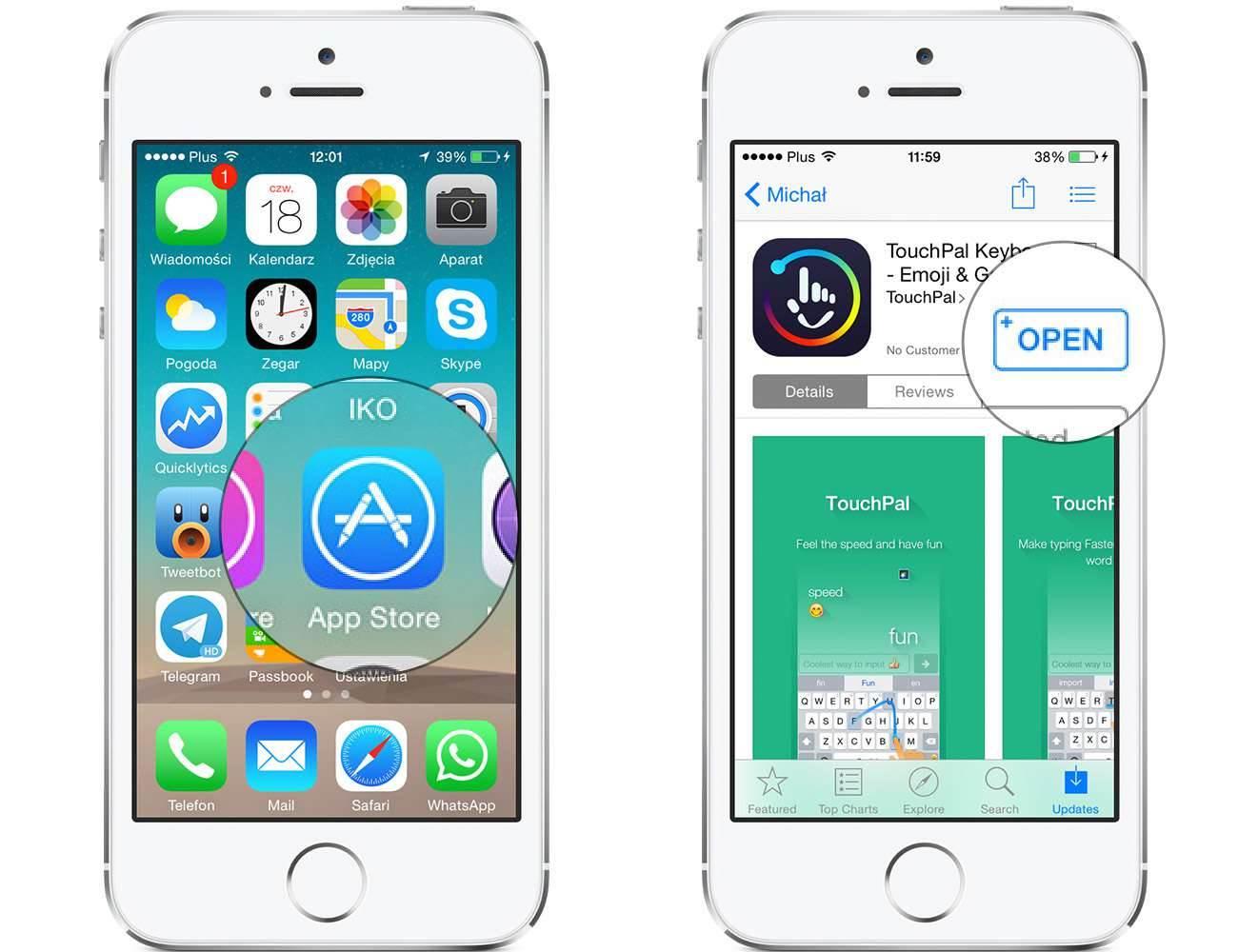 iOS 8 - jak zainstalować nową klawiaturę? poradniki, polecane TouchPal, Jak zainstalować klawiaturę na iOS 8, jak wgrać nową klawiaturę na iOS 8, iPhone, iOS 8 i instalacja nowej klawiatury, iOS 8, iOS, instalacja klawiatury na iOS 8, Apple  Jak zapewne większość z Was wie, finalna wersja iOS 8, która pojawiła się w dniu wczorajszym pozwala na zmianę domyślnej klawiatury. Poniżej opisze Wam w jaki sposób instalujemy nową klawiaturę na iOS 8. Klaw