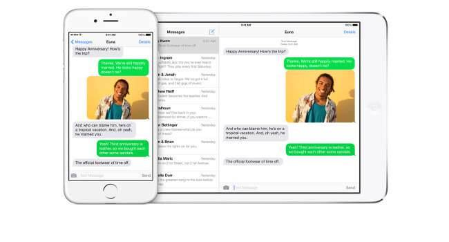 Jak uruchomić opcję wysyłania i odbierania SMS-ów na iPad i Mac z OS X Yosemite poradniki, polecane Yosemite i opcja wysyłania SMS, Yosemite, SMSy na Yosemite, SMSy na iOS 8.1, opcja wysyłania SMS-ów, Mac, jak włączyć SMS na Yosemite, Jak uruchomić opcję wysyłania i odbierania SMS-ów na iPad i Mac z OS X Yosemite, jak aktywować SMS na Yosemite, jak aktywować opcję wysyłania SMS-ów na Yosemite, iPhone, iPad, iOS 8.1, Apple  Nie wiem jak dla Was, ale jak dla mnie jedną z najlepszych jak nie najlepszą funkcją w najnowszym iOS 8.1 i OS X Yosemite jest możliwość wysyłać i odbierania SMS-ów i MMS-ów prosto z iPada lub Maca. SMS 650x350