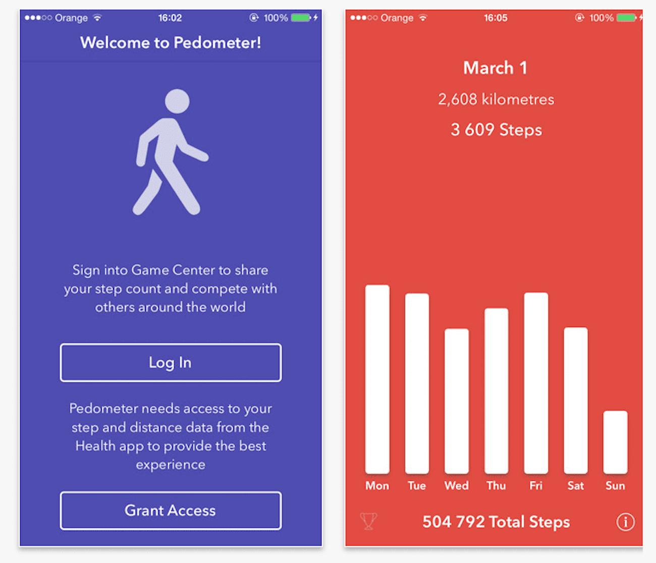 Pedometer - darmowy krokomierz na Twojego iPhone gry-i-aplikacje Zdrowie, Pedometer, Krokomierz na iPhone, Krokomierz na iPad, Krokomierz, iPhone 5s, iPhone, iPad mini retina, iPad Air, iPad, iOS, Darmowy krokomierz na iPhone, Apple, App Store  Pedometer for iPhone to prosta aplikacja licząca ilość wykonanych przez nas kroków. Normalna cena apki to 0,99? lecz dziś została ona przeceniona i dostępna jest w App Store za darmo. Zrzut ekranu 2015 03 24 o 10.37.18