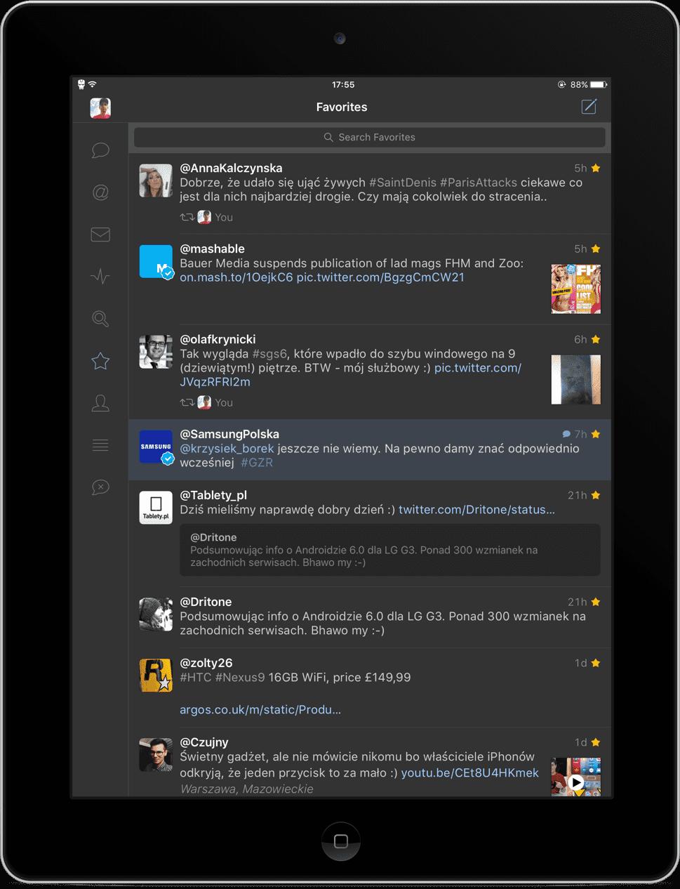 Tweetbot 4 - recenzja aplikacji recenzje, ciekawostki Tweetbot 4 polska recenzja, tweetbot 4 na iphone, Tweetbot 4 na iPad, tweetbot 4, recenzja Tweetbot 4  Korzystałem z wielu klientów firm trzecich do używania swojego Twittera, wiele z nich było udanych, a inne w ogóle nie odpowiadały moim gustom. W końcu postanowiłem sprawdzić Tweetbota na iOS, choć długo zastanawiałem się nad wydaniem na niego prawie 25 złotych. Teraz wiem, że były to odpowiednio ulokowane pieniądze. IMG 1119