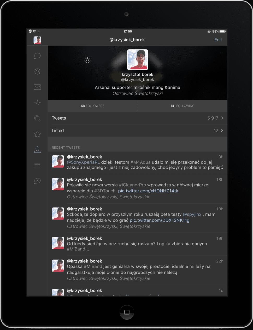 Tweetbot 4 - recenzja aplikacji recenzje, ciekawostki Tweetbot 4 polska recenzja, tweetbot 4 na iphone, Tweetbot 4 na iPad, tweetbot 4, recenzja Tweetbot 4  Korzystałem z wielu klientów firm trzecich do używania swojego Twittera, wiele z nich było udanych, a inne w ogóle nie odpowiadały moim gustom. W końcu postanowiłem sprawdzić Tweetbota na iOS, choć długo zastanawiałem się nad wydaniem na niego prawie 25 złotych. Teraz wiem, że były to odpowiednio ulokowane pieniądze. IMG 1121