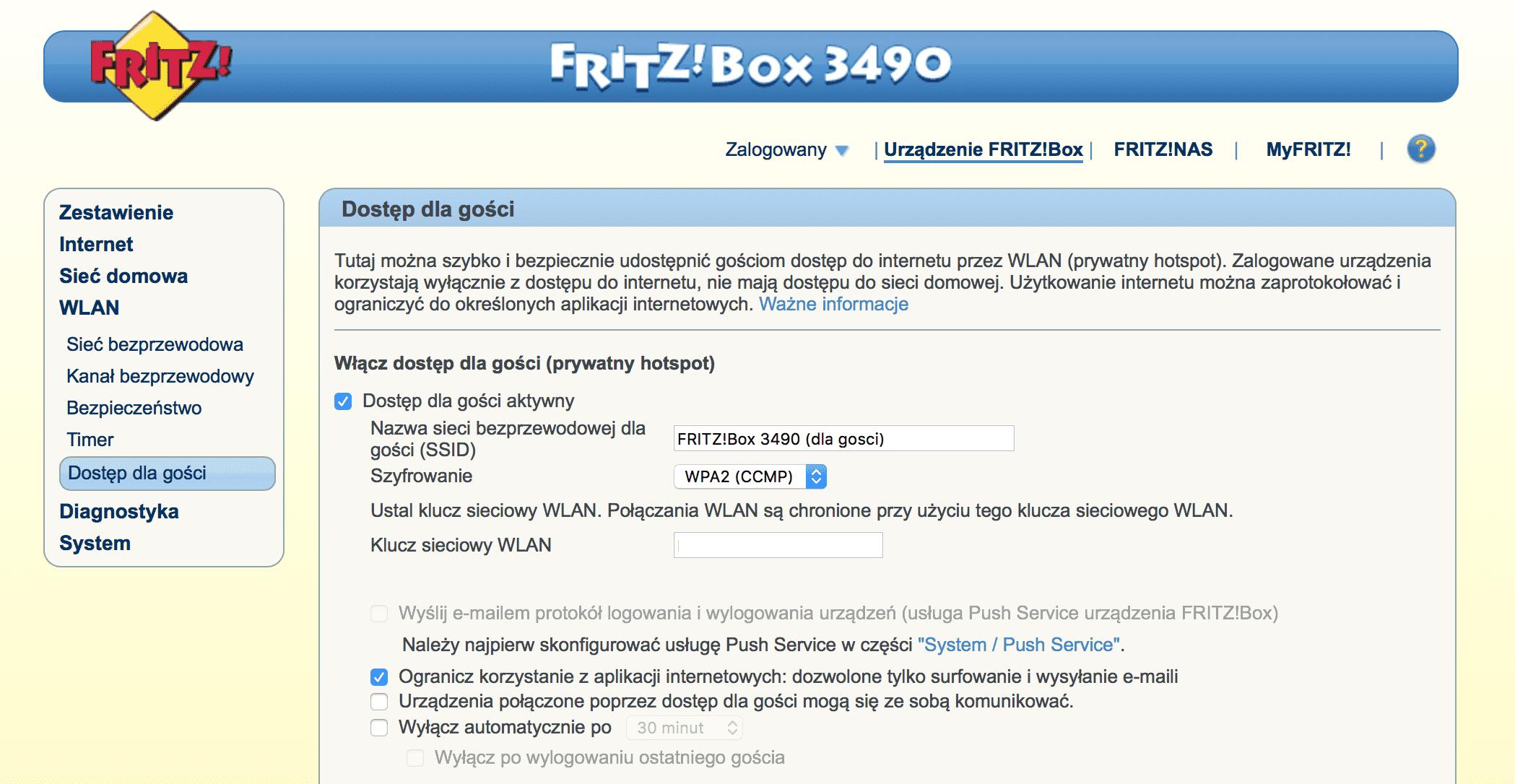 FRITZ!Box 3490 - mega szybki router ADSL/VDSL z Wi-Fi AC recenzje, polecane zalety, wady, router FRITZ!Box 3490 c, router FRITZ!Box 3490, recenzja FRITZ!Box 3490, polska recenzja, konfiguracja FRITZ!Box 3490, FRITZ!Box 3490 i neostrada, FRITZ!Box 3490, czy warto kupić FRITZ!Box 3490, cena FRITZ!Box 3490, AVM  FRITZ!Box 3490 to router niemieckiej firmy AVM. Jestem w jego posiadaniu od ponad czterech tygodni i poniżej chciałbym się podzielić z Wami informacjami na temat tego właśnie routera. Zrzut ekranu 2016 02 08 o 17.11.56