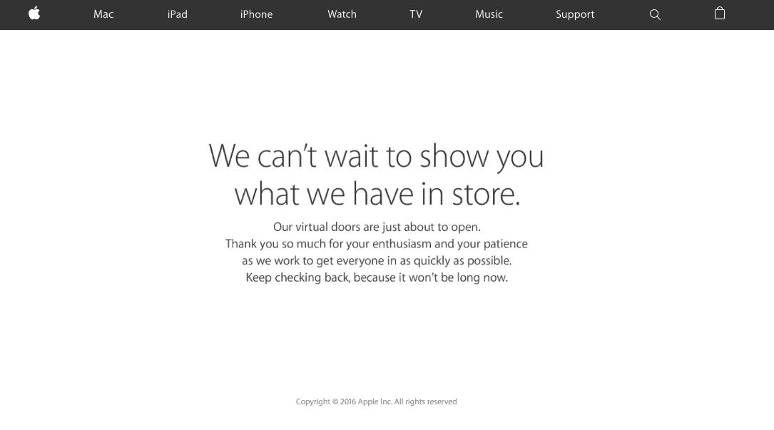 Apple Store Online nie działa - ruszyły przygotowania do wieczornej konferencji ciekawostki nowe Macbook Pro, Nie działa Apple Store Online, iphone se, ipad pro mini, Apple Store Online, Apple, Aktualizacja  Od kilku minut dostęp do Apple Store Online nie jest możliwy, ponieważ twa aktualizacja sklepu. Co to może oznaczać? Zrzut ekranu 2016 03 21 o 12.09.43