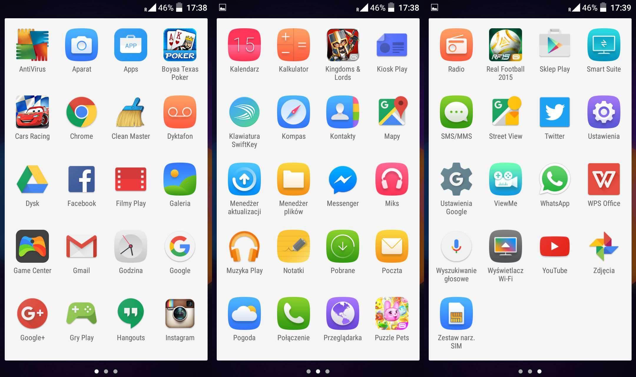 Siatka aplikacji