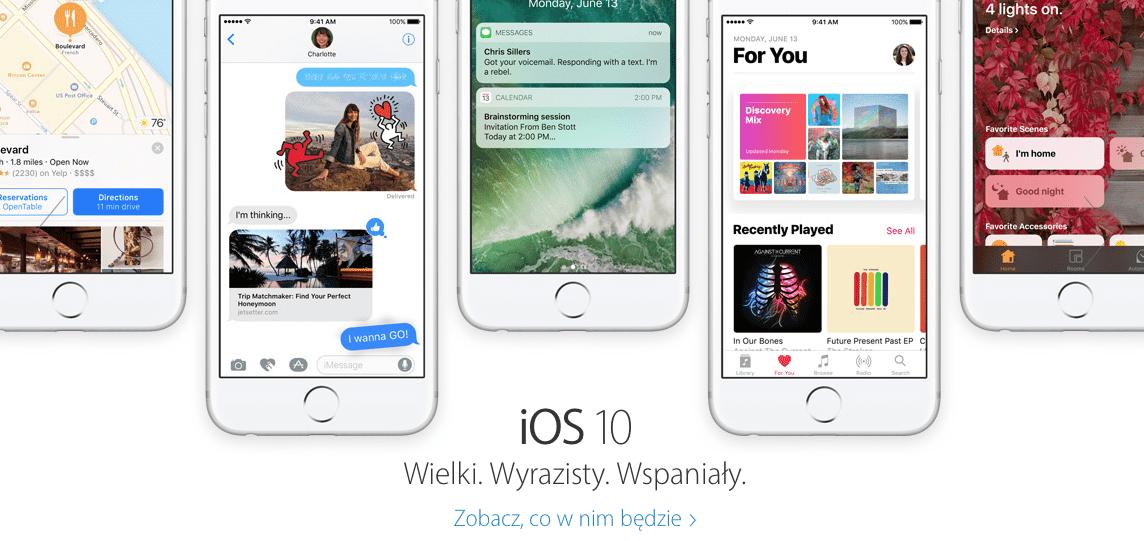Polska strona Apple uaktualniona - pojawiły się informacje o iOS 10, watchOS 3 i macOS Sierra polecane, ciekawostki watchos 3, polska strona apple, macOS Sierra, iOS 10, Apple  Po ponad trzech tygodniach od prezentacji iOS 10, polska strona Apple wreszcie została uaktualniona i pojawiły się na niej informacje o najnowszych systemach Apple. Zrzut ekranu 2016 07 07 o 13.02.45