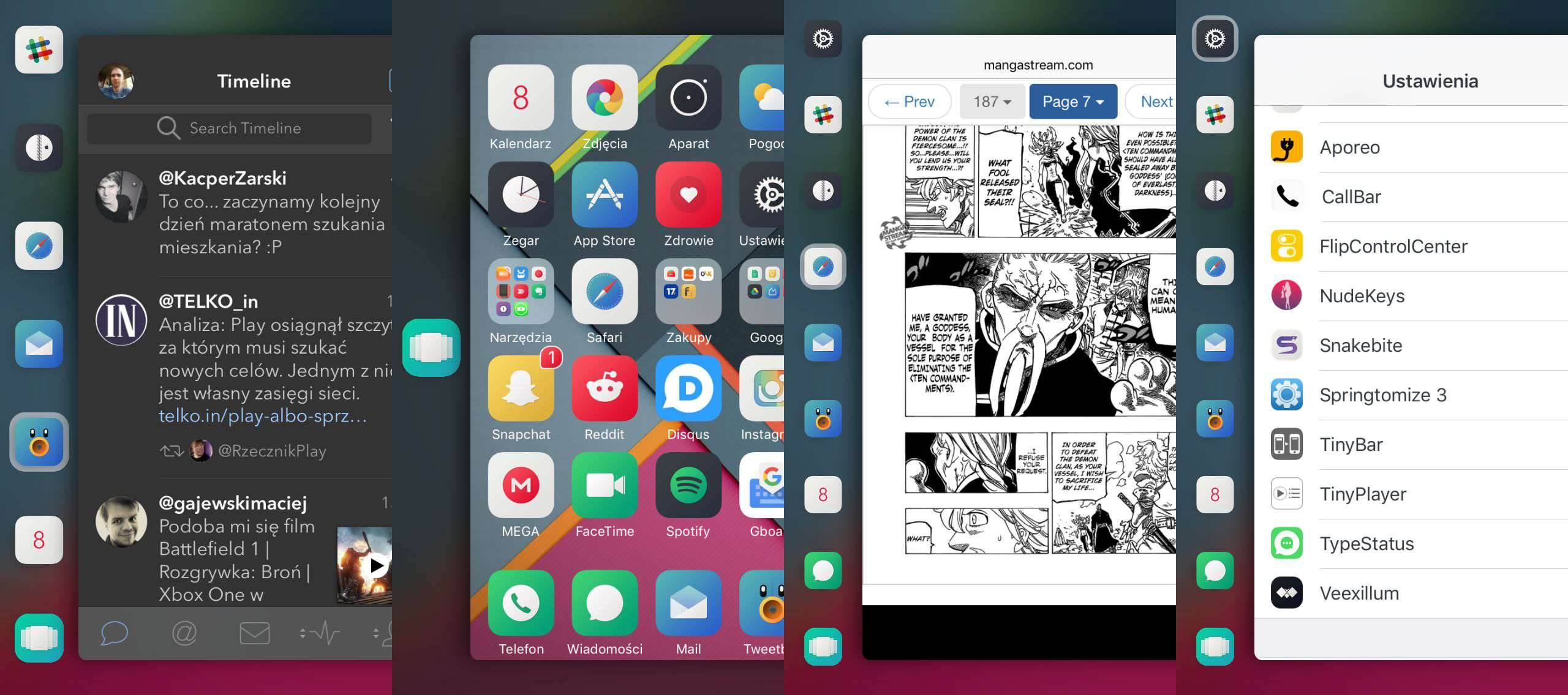 Snakebite 2 - test i recenzja recenzje, cydia-i-jailbreak Snakebite 2, recenzja Snakebite 2  Menu wielozadaniowości w iOS na przestrzeni lat zmieniało się wiele razy, raz były to świetne rozwiązania (iOS poniżej 7), a raz nieudane (iOS 9). 2 5