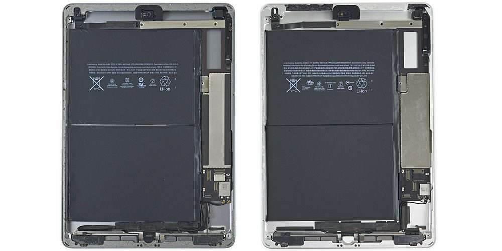 iFixit rozłożyło nowego iPada ciekawostki ipad rozłożony, iPad, ifixit  Wprowadzenie iPada do sprzedaży odbyło się bez większego echa i od razu wyglądało na to, że dostaniemy sprzęt w opakowaniu po Air pierwszej generacji z paroma zmianami względem tego modelu. Wszystkiego możemy się przynajmniej dowiedzieć dzięki iFixit. ipad versus ipad air
