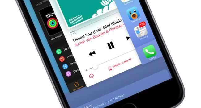 Zobacz jak szybko zamknąć wszystkie uruchomione aplikacje na iOS bez Jailbreak poradniki, polecane, ciekawostki jak zwolnić ram w iPhone, jak zwolnić pamięć w iPhone, jak zamknąć aplikacje działające w tle na iPhone, iPad, Apple  Chociaż Apple mówi, że użytkownik iOS nie musi zamykać uruchomionych aplikacji, to jednak są pewne sytuacje gdy zamknięcie jest konieczne np. gdy w naszym iUrządzeniu brakuje wolnej pamięci. wtle 650x350
