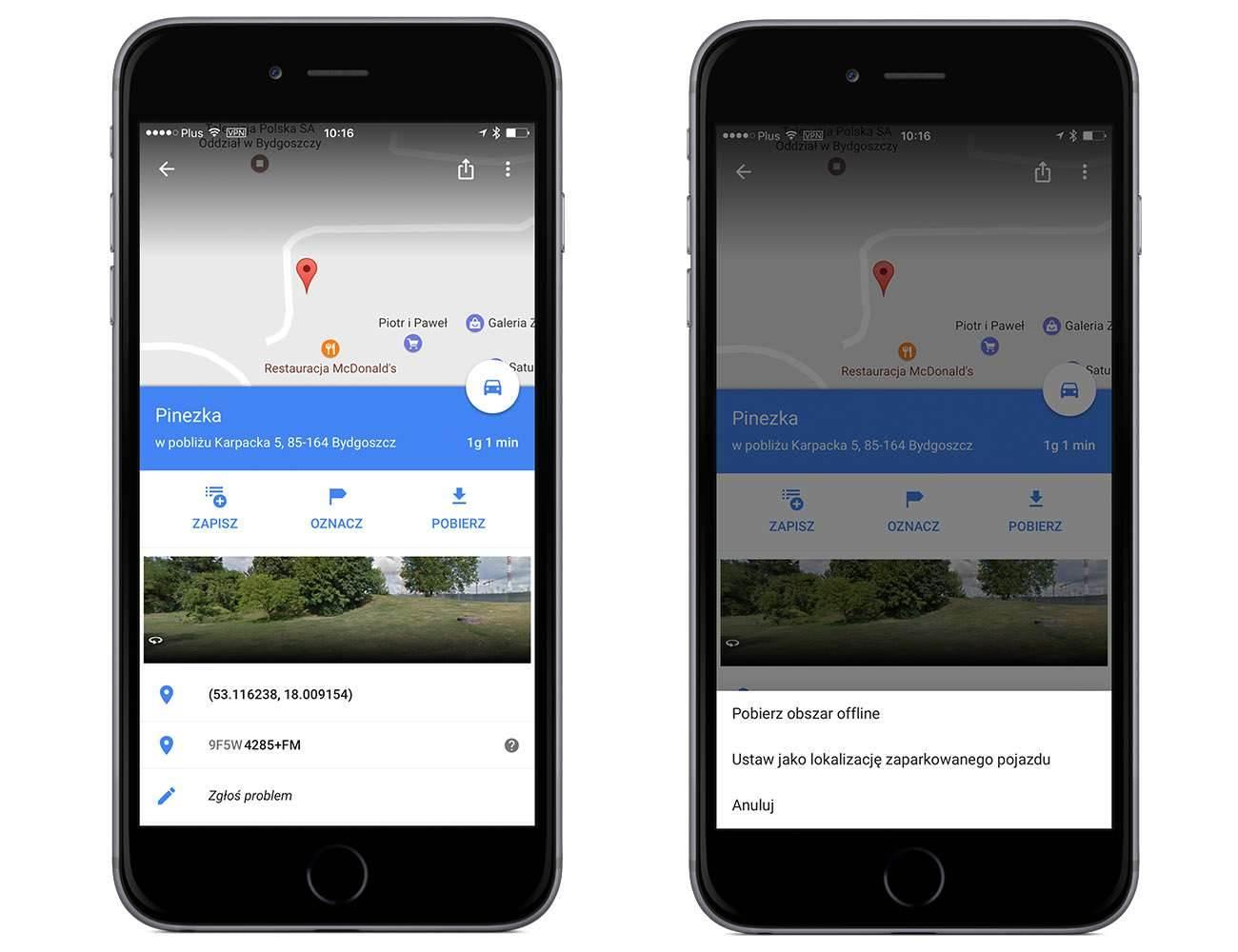 Jak zaznaczyć miejsce parkingowe naszego auta w Google Maps na iOS poradniki, polecane, ciekawostki samochód, pojazd, miejsce parkingowe, Mapy, jak zaznaczyć miejsce parkingowe w google maps, iPhone, iPad, google maps na ios, Google Maps  Może nie wszyscy z Was wiedzą, ale od jakiegoś już czasu w Google Maps dostępna jest funkcja pozawaląca na zaznaczenie miejsca parkingowego naszego zaparkowanego auta. 1 4