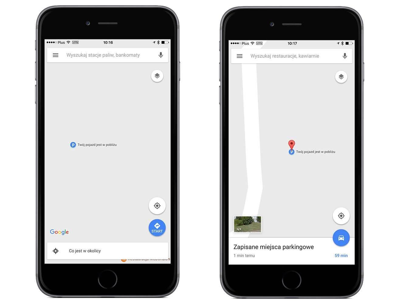 Jak zaznaczyć miejsce parkingowe naszego auta w Google Maps na iOS poradniki, polecane, ciekawostki samochód, pojazd, miejsce parkingowe, Mapy, jak zaznaczyć miejsce parkingowe w google maps, iPhone, iPad, google maps na ios, Google Maps  Może nie wszyscy z Was wiedzą, ale od jakiegoś już czasu w Google Maps dostępna jest funkcja pozawaląca na zaznaczenie miejsca parkingowego naszego zaparkowanego auta. 2 2
