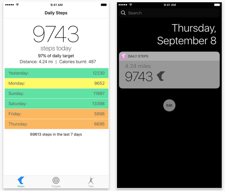 Daily Steps - darmowy krokomierz na Twojego iPhone'a gry-i-aplikacje Zdrowie, Krokomierz na iPhone, Krokomierz na iPad, Krokomierz, iPhone, iPad mini retina, iPad Air, iPad, iOS, Darmowy krokomierz na iPhone, Daily Steps, Apple, App Store  Daily Steps to prosta aplikacja licząca ilość wykonanych przez nas kroków. Normalna cena apki to 2,29? lecz dziś została ona przeceniona i dostępna jest w App Store za darmo. Zrzut ekranu 2017 06 02 o 14.07.54