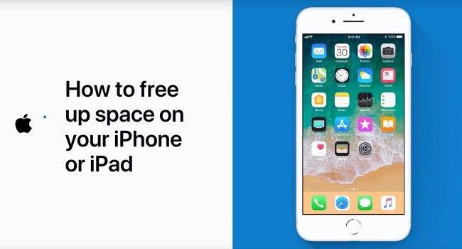 Apple pokazuje jak zwolnić miejsce w iPhone lub iPad polecane, ciekawostki Youtube, Wideo, jak zwolnić miejsce w iPhone, jak zwolnić miejsce w iPad, iPhone, iPad, iOS, Apple  Wczoraj na kanale YouTube giganta z Cupertino pojawił się nowy filmik. Tym razem, Apple pokazuje nam jak zwolnić miejsce w iPhone lub iPad. iPhone wolne miejsce 650x350