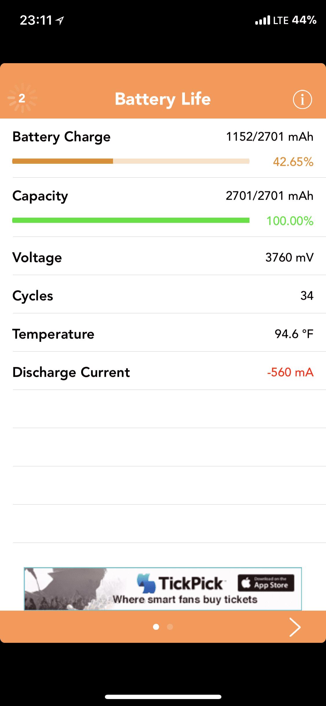 Dodatek BatteryLife z Cydii kompatybilny z iOS 11 cydia-i-jailbreak iOS 11, Cydia, BatteryLife  Za czasów korzystania z Jailbreak za każdym razem decydowałem się na instalację aplikacji BatteryLife. Dzięki niej miałem pełny wgląd w kondycję baterii, dodatkowe informacje i poprawne wyświetlanie % baterii. eIYbGSW