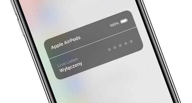 Słuch - kolejna nowość iOS 12 polecane, ciekawostki Słuch, nowa opcja słuch w iOS 12, Live Listen, jak działa Live Listen w iOS 12, iPhone, iOS 12, co to jest Live Listen, AirPods  Od premiery iOS 12 minęło już troszkę czasu, ale tej funkcji po premierze jeszcze Wam nie opisywaliśmy. Poznajcie ?Słuch?, czyli opcja, która skierowania jest do wszystkich posiadaczy AirPods. LiveListen 650x350