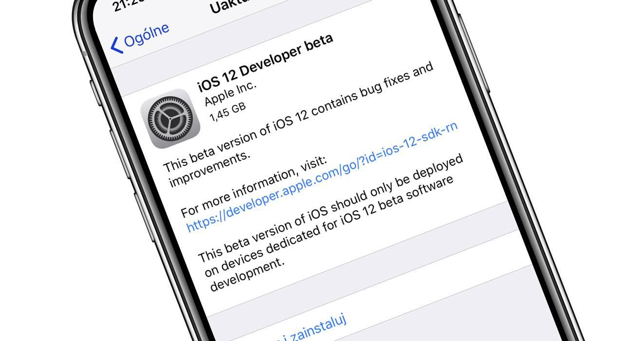 Jak zainstalować publiczną betę iOS 12 - instrukcja poradniki, polecane, ciekawostki publiczny profil do iOS 12, publiczna beta iOS 12, profil do iOS 12, jak zainstalować publiczną betę iOS 12, iOS 12 jak zainstalować, beta iOS 12, Apple  Publiczna beta iOS 12 została oficjalnie wypuszczona, więc już dziśpo zainstalowaniu specjalnego profilu niemal każdy może pobawić sięnajnowszą wersją iOS. Jak tego dokonać? iOS12 2