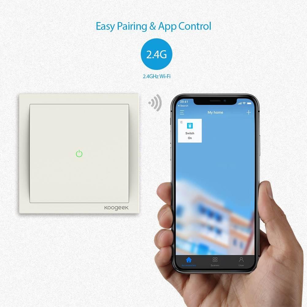 Koogeek Smart Light Switch, czyli włącznik światła kompatybilny z HomeKit dostępny w bardzo atrakcyjnej cenie polecane, ciekawostki właczynik światla, Promocja, Koogeek Smart Light Switch, koogeek  Dziś mamy dzień promocji. Po Huawei Honor 7X przyszedł czas na Koogeek Smart Light Switch, czyli włącznik światła kompatybilny z HomeKit. koogek