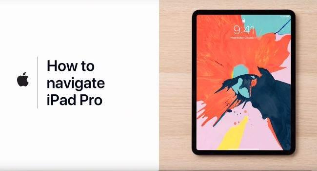 Gesty na iPad Pro 2018, czyli nowy samouczek od Apple podcast, ciekawostki Youtube, Wideo, samouczek, restart iPad Pro 2018, Poradnik, jak korzystać z gestów na iPad Pro 2018, iPad Pro, gesty na nowym ipad Pro, gesty na iPad Pro 2018, Apple  Właśnie na kanale YouTube firmy Apple pojawiło się nowe wideo. Tym razem gigant z Cupertino pokazuje nam jak korzystać z gestów na nowym iPad Pro. iPadPro gesty 650x350