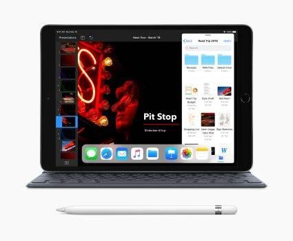 Apple szykuje wiele nowości polecane, ciekawostki lepszy aparat, iPhone 11, iPad, HomePod, face ID  iPhone 11 zadebiutuje już niebawem, do września nie pozostało dużo czasu, ale nie będzie to jedyny produkt zaplanowany na ten rok i przyszły. New iPad Air with Smart Keyboard Apple Pencil 03192019 425x350