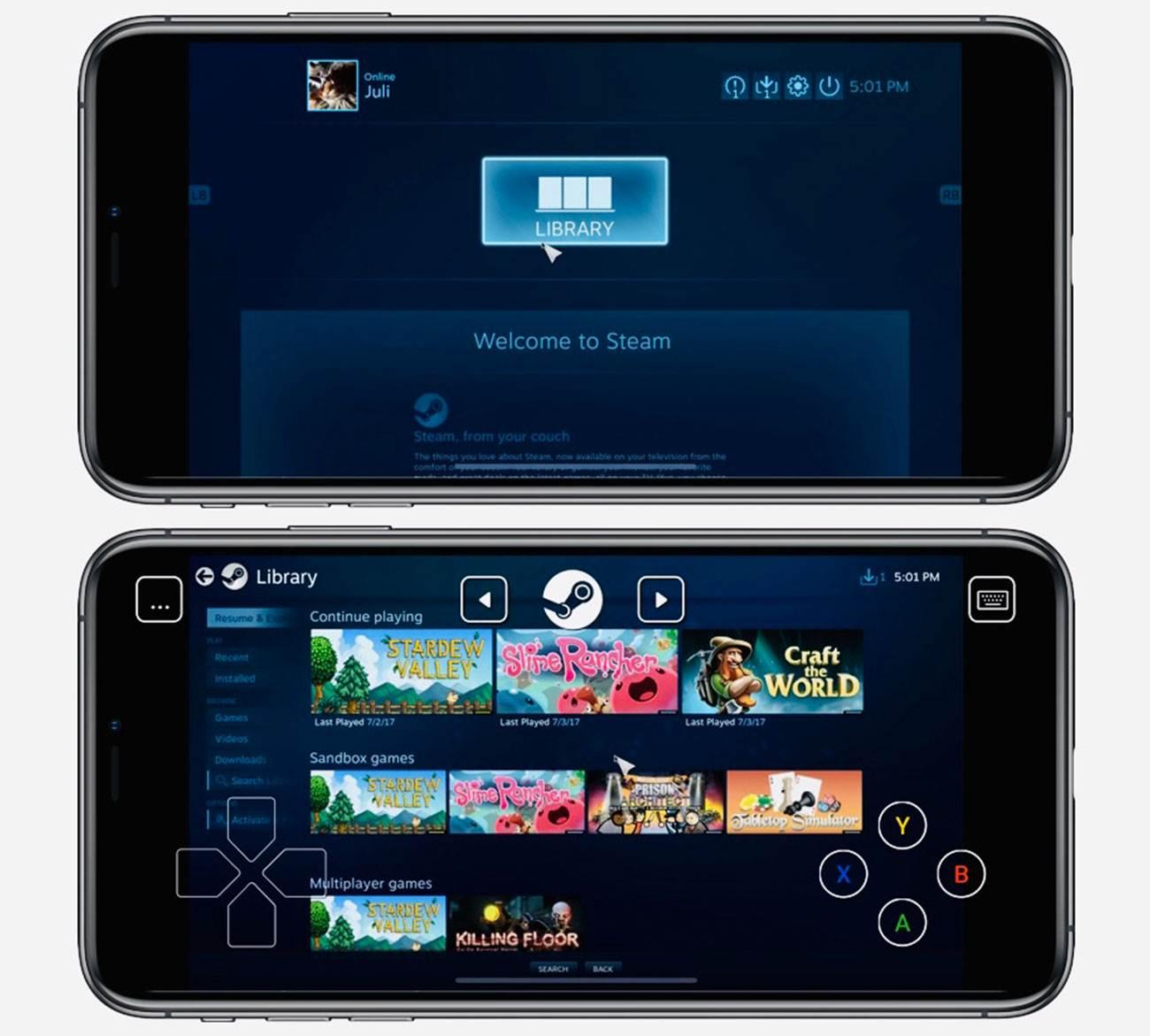 Steam Link - darmowa aplikacja umożliwiająca granie w gry Steam na iPhone, iPad w końcu dostępna w App Store ciekawostki steam na iOS, steam link, iPad, gry, granie w gry steam na iPhone, granie, download, aplikacja steam na iOS  W 2018 roku firma Valve ogłosiła aplikację Steam Link na iOS do strumieniowego przesyłania gier z PC i Mac na iPhone, iPad, ale program nie był dozwolony w App Store. Teraz wszystko się zmieniło. steam 1