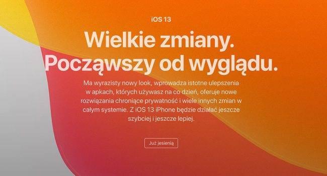 Informacje o iOS 13, iPadOS, watchOS 6 i macOS Catalina wreszcie dostępne na polskiej stronie Apple polecane, ciekawostki watchOS 6, polska strona apple, macOS Catalina, iPadOS 13, iOS 13, Apple  Na ten dzień musieliśmy czekać prawie miesiąc. Wreszcie gigant z Cupertino uaktualnił polską stronę Apple i zamieścił na niej wszystkie informacje o swoich najnowszych systemach. iOS13 4 650x350