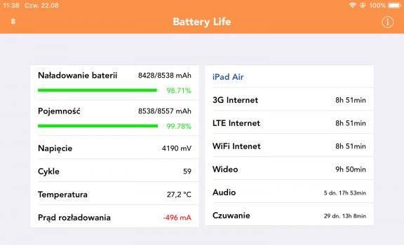 Wtyczka Battery Life kompatybilna z iOS 12.4 cydia-i-jailbreak wtyczka, kompatybilność z iOS 12.4, iPhone, Battery Life, Aplikacja  Battery Life to jedna z pierwszych aplikacji/wtyczek, które zawsze instaluje na swoim urządzeniu zaraz po wykonaniu Jailbreak. Battery Life.PNG 576x350