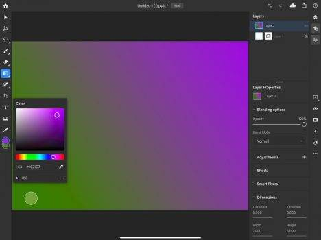 Ruszyły beta testy Photoshopa na iPada. W sieci są już pierwsze screeny z aplikacji polecane, ciekawostki screeny, Photoshop iPad, Photoshop, iPad Pro, beta testy  W maju Adobe otworzyło rejestrację do testowania Photoshopa na iPada. Dzisiaj rozpoczęły się zamknięte beta testy aplikacji. Photoshop ipad 1 468x350