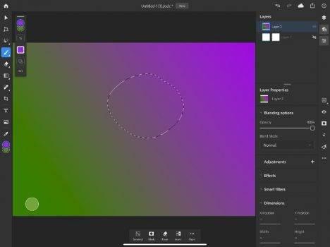 Ruszyły beta testy Photoshopa na iPada. W sieci są już pierwsze screeny z aplikacji polecane, ciekawostki screeny, Photoshop iPad, Photoshop, iPad Pro, beta testy  W maju Adobe otworzyło rejestrację do testowania Photoshopa na iPada. Dzisiaj rozpoczęły się zamknięte beta testy aplikacji. Photoshop ipad 3 468x350