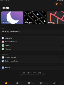 Cydia nie działa jak należy na iOS 12.4, ale jest dla niej alternatywa cydia-i-jailbreak Zebra, jailbreak, Cydia  Cydia od dłuższego czasu nie potrafi odpowiednio współpracować z nowszymi wydaniami iOS. Nie inaczej jest w przypadku najnowszej wersji oprogramowania, czyli 12.4. Zebra 263x350