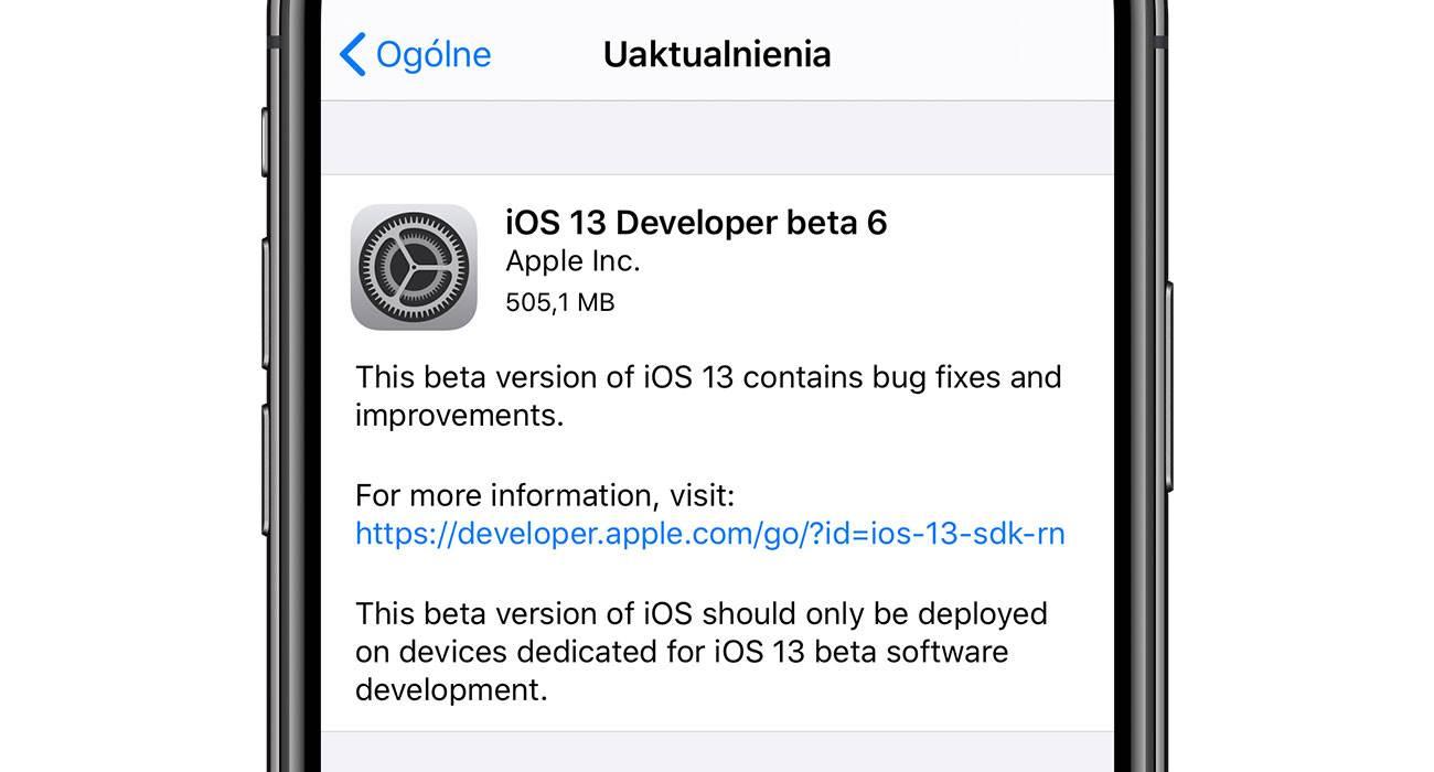 iPadOS 13 / iOS 13 beta 6 - nasza lista zmian polecane, ciekawostki zmiany, Update, lista zmian, iOS 13 beta 6, co nowego, Apple, Aktualizacja  Dobre wieści dla deweloperów iOS 13 i iPadOS 13. Właśnie Apple udostępniło im szóste bety najnowszego oprogramowania. Co zostało zmienione w stosunku do piątej bety? iOS13beta6