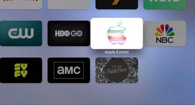 """Apple uaktualniło kanał """"Apple Events"""" w Apple TV ciekawostki prezentacja iPhone 11, gdzie oglądać, AppleTV, Apple TV, Apple, 2019  Jeśli masz Apple TV i czekasz na wtorkową konferencję na której zostaną zaprezentowane nowe iPhone'y, to mamy dla Ciebie dobre wieści. AppleTV 2 650x350"""