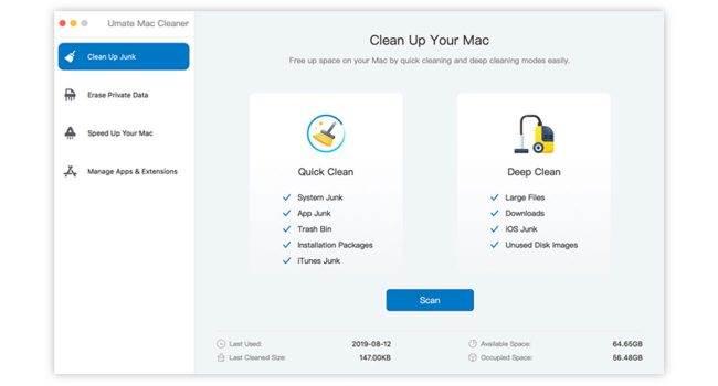 Narzędzie do naprawy błędów iTunes oraz apka do czyszczenia Maka za darmo, a także zniżki na inne produkty. Oto nowa oferta iMyfone z okazji premiery iOS 13 ciekawostki Przecena, Promocja, programy iMyfone, iMyfone  Programy iMyfone opisywaliśmy na stronie już nie raz. W związku ze zbliżającą się premierą iOS 13 firma przygotowała specjalną promocję pozwalającą zaoszczędzić kilka groszy, a także dwa świetne programy TunesFix i Umate Mac Cleaner do pobrania za darmo. Umate 650x350