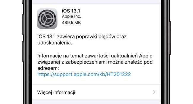 iOS 13.1 dostępny dla wszystkich - oficjalna lista zmian polecane, ciekawostki Update, OTA, lista zmian, iPhone, iOS 13.1, co nowego w iOS 13.1, co nowego, Apple, Aktualizacja  Zgodnie z wcześniejszymi zapowiedziami właśnie Apple udostępniło wszystkim użytkownikom finalną wersję iOS 13.1. Co zostało zmienione? iOS13.1 650x350