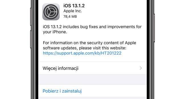 Aktualizacja iOS 13.1.2 oraz iPadOS 13.1.2 dostępna polecane, ciekawostki oficjalna lista zmian, lista zmian w iPadOS 13.1.2, lista zmian, iPadOS 13.1.2, iOS 13.1.2, co nowego w iPadOS 13.1.2, co nowego w iOS 13.1.2, co nowego, Aktualizacja  No i kolejna niespodzianka. Dosłownie przed chwilą Apple udostępniło nowe systemy. Są to iOS 13.1.2 oraz iPadOS 13.1.2. Lista zmian tradycyjnie poniżej. iOS1312 650x350