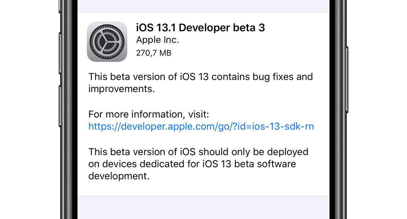 Trzecia beta iPadOS 13.1 oraz iOS 13.1 dostępna dla deweloperów polecane, ciekawostki zmiany, Update, lista zmian, iOS 13.1 beta 3, co nowego, Apple, Aktualizacja  Dość niespodziewanie, dosłownie przed chwilą Apple udostępniło deweloperom trzecie deweloperskie bety iOS 13.1 oraz iPadOS 13.1. iOS131b3