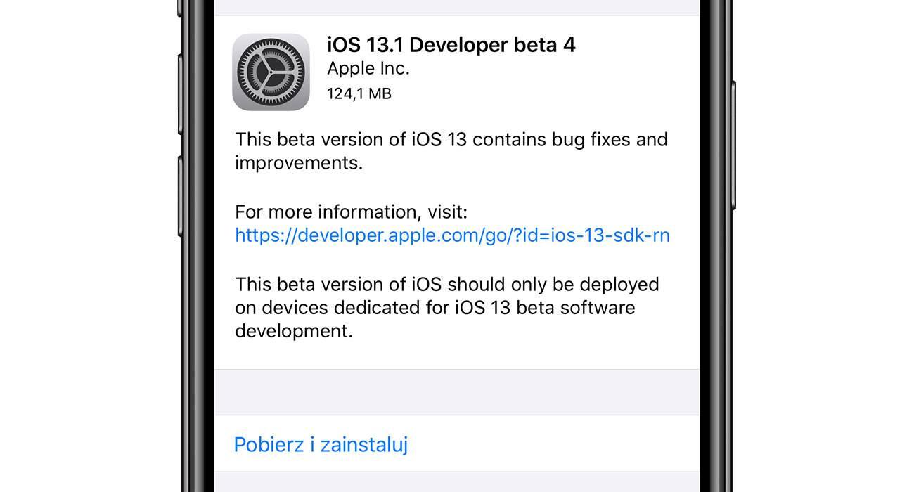 Czwarta zwykła i publiczna beta iPadOS 13.1 oraz iOS 13.1 dostępna dla deweloperów polecane, ciekawostki zmiany, Update, lista zmian, iOS 13.1 beta 4, co nowego, Apple, Aktualizacja  Miła niespodziana dla zwykłych i publicznych beta testerów iOS. Właśnie Apple udostępniło czwarte bety iOS 13.1 oraz iPadOS 13.1. iOS13b4