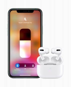Oficjalnie: AirPods Pro w sprzedaży od 30 października polecane, ciekawostki polska cena AirPods Pro, cena AirPods Pro, Apple, AirPods Pro  Stało się! Apple wprowadziło do sprzedaży swoje najnowsze bezprzewodowe słuchawki AirPods Pro. Apple AirPods Pro iPhone11 Pro 102819 inline.jpg.large  286x350