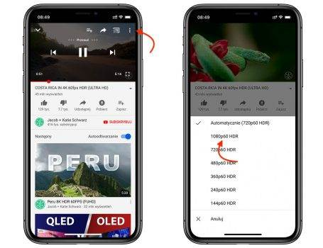 YouTube dodaje obsługę HDR dla iPhone 11 Pro ciekawostki youtube hdr, Youtube, iPhone 11 Pro, hdr, Apple  Najnowsza wersja aplikacji YouTube na iOS ucieszy właścicieli najnowszych iPhone 11 Pro oraz iPhone 11 Pro Max. HDR 455x350