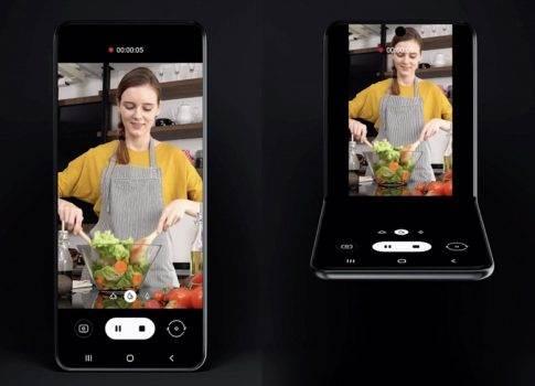 Samsung ujawnił wygląd Galaxy Fold 2? polecane, ciekawostki Wideo, Samsung  Podczas wczorajszej konferencji dla programistów Samsung ujawnił wygląd nowego składanego smartfona z elastycznym ekranem, który bardzo różni się od Galaxy Fold. fold2 1 485x350