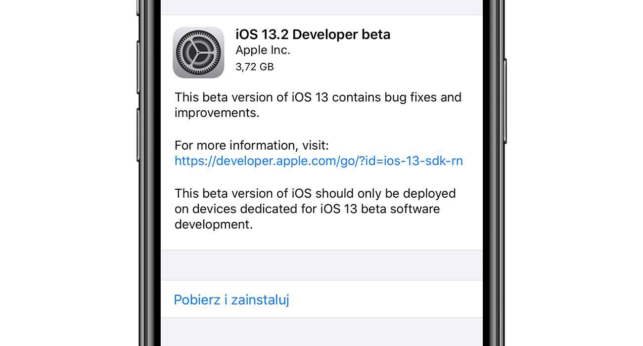 iOS 13.2 beta 1 z funkcją Deep Fusion dostępna do pobrania polecane, ciekawostki iPhone 11, iOS 13.2 beta 1, Deep Fusion, co nowego w iOS 13.2, Apple  Apple aktualizuje iOS 13 w rekordowym tempie. Od wypuszczenia finalnej wersji minęły dobre dwa tygodnie, a iOS 13 otrzymał już dwie aktualizację. Dziś pojawiła się kolejna, ale tylko dla deweloperów. iOS13.2beta1 1
