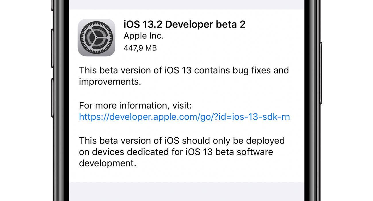 iOS 13.2 beta 2 dostępna polecane, ciekawostki zmiany, Update, lista zmian, iOS 13.2 beta 2, co nowego, Apple, Aktualizacja  Od czasu udostępnienia pierwszej bety iOS 13.2 minął nieco ponad tydzień, więc zgodnie z tradycją Apple udostępniło właśnie deweloperom drugą betę najnowszej testowej wersji iOS. iOS132beta2